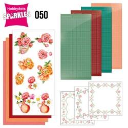 (SPDO050)Sparkles Set 50 -  Jeanine's Art - Orange Flowers