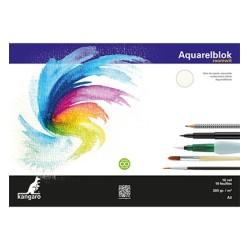 (K-5303)Kangaro Watercolour block off-white A3 16 sheets 300 grs