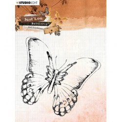 (STAMPJL14)Studio light Clear Stamp  Just Lou - Butterfly Collection nr.14