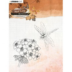 (STAMPJL15)Studio light Clear Stamp  Just Lou - Butterfly Collection nr.15