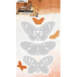 (STENCILJL18)Studio Light Cutting and Embossing Die Just Lou Butterfly Collection nr.18