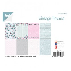 (6011/0649)Paper set A4 Design Vintage Flowers