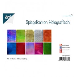 (8011/0122)Joy! Crafts Mirrorcarton Holographic - 10sh A4