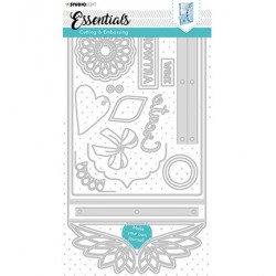 (STENCILSL380)Studio Light Cutting and Embossing Die Journal Essentials nr.380