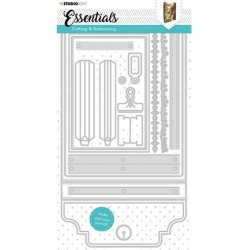 (STENCILSL381)Studio Light Cutting and Embossing Die Journal Essentials nr.381