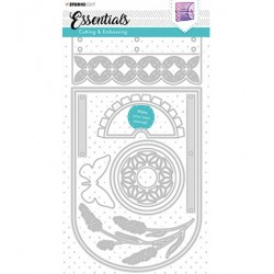 (STENCILSL382)Studio Light Cutting and Embossing Die Journal Essentials nr.382