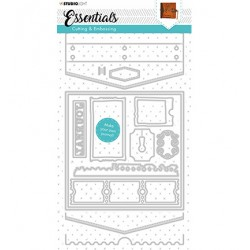 (STENCILSL383)Studio Light Cutting and Embossing Die Journal Essentials nr.383