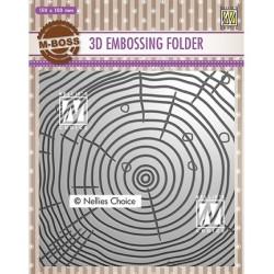 (EF3D022)Nellie's Choice Embossing folder Grow rings