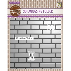(EF3D023)Nellie's Choice Embossing folder Brick-wall