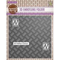 (EF3D024)Nellie's Choice Embossing folder Strip pattern-1