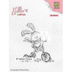(NCCS004)Nellie`s Choice Clearstamp - Javi with full speed