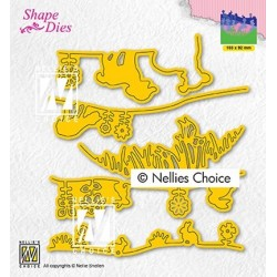 (SD192)Nellie's Shape Dies Set-up spring scene