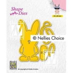 (SD195)Nellie's Build-up dies:macho hare