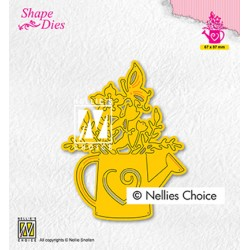 (SD197)Nellie's shape dies Wateringcan with flowers