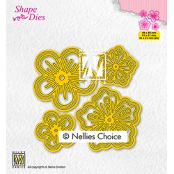 (SD200)Nellie's shape dies Set of flowers