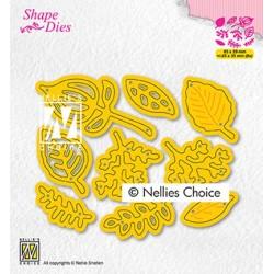 (SD201)Nellie's shape dies Set of leaves