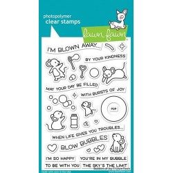 (LF2500)Lawn Fawn Bubbles of Joy Clear Stamps