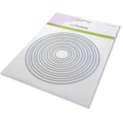 (115633/0951)CraftEmotions Big Nesting Die - scalop cirkels Card 150x160 - scalop 2,5 - 13,2cm