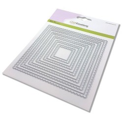 (115633/0952)CraftEmotions Big Nesting Die - scalop vierkanten Card 150x160 - scalop 6,5 - 15cm