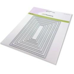 (115633/0953)CraftEmotions Big Nesting Die - scalop rechthoeken Card 150x160 - scalop 8 - 15cm
