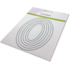 (115633/0954)CraftEmotions Big Nesting Die - scalop ovalen Card 150x160 - scalop 2,6 - 13cm