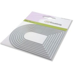 (115633/0835)CraftEmotions Die - edges arched frame Card 11x9cm - 5,2 - 10,8 cm
