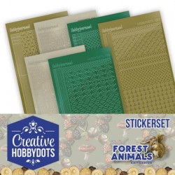 (CHSTS012)Creative Hobbydots Stickerset 12 - Amy Design - Forest Animals