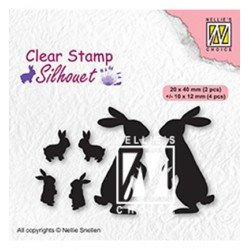(SIL082)Nellie`s Choice Clearstamp - Rabbits