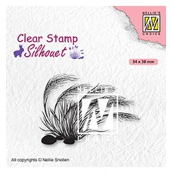 (SIL084)Nellie`s Choice Clearstamp - Blooming grass 3