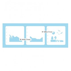 (LCSL001)Nellies Choice Stencil Nature scene-1 for MSTS001