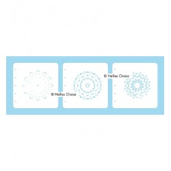 (LCSM001)Nellies Choice Stencil Mandala-1 for MSTS001