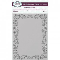 (EF3D-045)Creative Expressions Embossing folder 3D Swirling frame