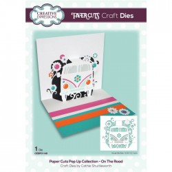 (CEDPC1149)Creative Expressions Craft die paper cuts On the road