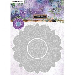 (STENCILJMA12)Studio Light Cutting and Embossing Die Mandala Time to Relax 2.0 nr.12
