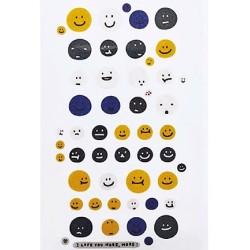 (740019-1)Stafil mini stickers smilies