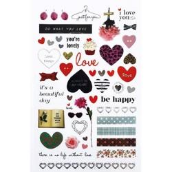 (740019-2)Stafil mini stickers Love