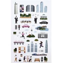 (740019-5)Stafil mini stickers City