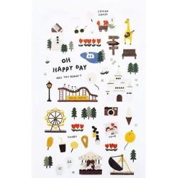 (740019-6)Stafil mini stickers Happy Day!