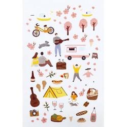(740019-8)Stafil mini stickers Spring