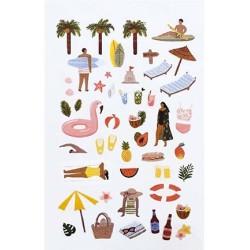 (740019-9)Stafil mini stickers Summer
