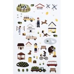 (740019-10)Stafil mini stickers Farmland