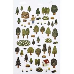(740019-11)Stafil mini stickers Forest