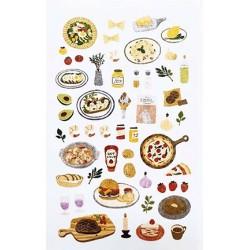 (740019-12)Stafil mini stickers Food