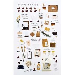 (740019-13)Stafil mini stickers Coffee cup white