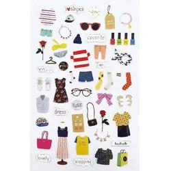 (740019-14)Stafil mini stickers Cloths