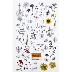 (740019-16)Stafil mini stickers Flowers minimal