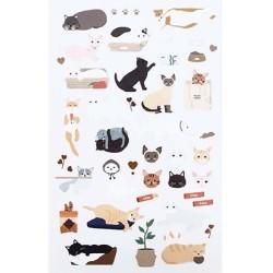 (740019-19)Stafil mini stickers Cats