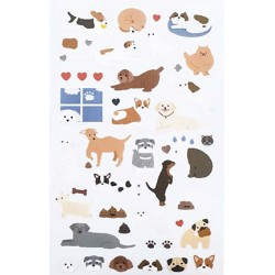 (740019-20)Stafil mini stickers Dogs