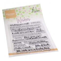 (CS1079)Clear stamp Wishes by Marleen
