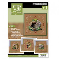 (STDOOC10003)Stitch and Do on Colour 003 - Amy Design - Forest Animals